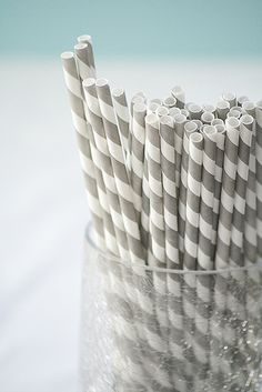 @Dannette Dicharry I have these gray straws if you'd like to use them (thanks to Amber Nichols giving them to me!). If you don't use them I'll probably save them for his 1st birthday party.