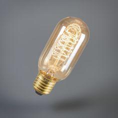 Glühlampe Goldline Rohr T45 240V 40W E27. #Glühlampe #dekorativ #warmesLicht