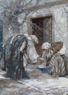 STEPAN FEDOROVICH KOLESNIKOV (1879-1955) Russian Painter.