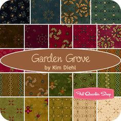 Garden Grove Yardage Kim Diehl for Henry Glass Fabrics - Quilt inspiration. Such rich colors!