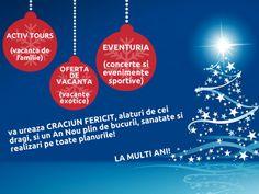 ❄☃ ACTIV EVENTURIA va ureaza un An Nou fericit! La multi ani! An Nou Fericit, Weather, Tours, Movies, Weather Crafts