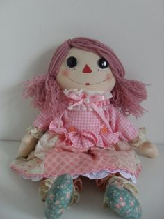Handmade Rag Doll  Doll 2 by Hexagoncrafts on Etsy, $93.00