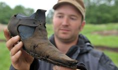 A shoes find at Dieler Schanze Fortress, near Diele town in Germany .