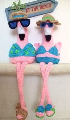 Maggie's Crochet · Flora & Floyd The Pink Flamingos