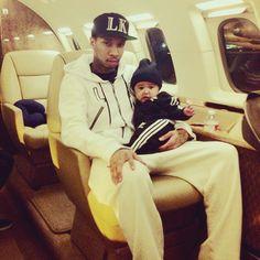 Tyga and baby Cairo