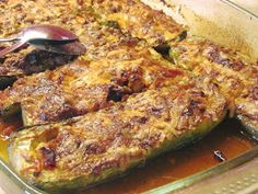 Zucchini In The Oven, Greek Recipes, Lunch Recipes, Pork, Food And Drink, Meat, Chicken, Vegetables, Cooking