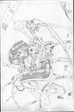 E.V.E. ProtoMecha #1 Cover Pencils//Joe Madureira/M/ Comic Art Community GALLERY OF COMIC ART