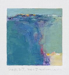 Sep. 27 2017 Original Abstract Oil Painting 9x9 painting