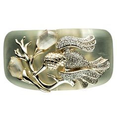 Ophelia Gold Large Hummingbird Bracelet :: Bracelets :: Lucite :: Collections :: Alexis Bittar