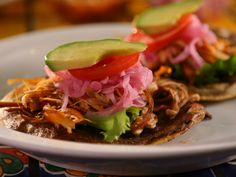 Panuchos recipe from Diners, Drive-Ins and Dives via Food Network