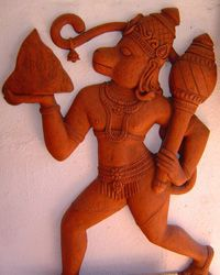 Hanuman: The great monkey god and devoted follower of Rama.