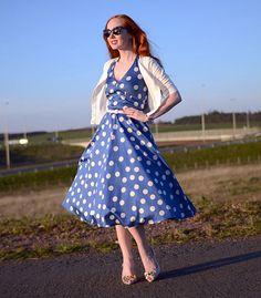 50s style polka dot dress