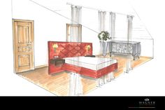 Schlafzimmer – modernes Bett Chair, Furniture, Home Decor, Neuschwanstein Castle, Living Dining Rooms, New Construction, Interior, Bed, Bedroom