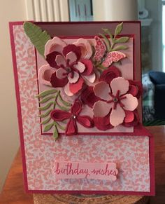 Winnie's Whims & My Crafts: Corner Fold Over Card with Designer Paper and…