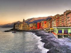 Camogli, Italy. Guide for Hiking along the Mediterranean Coast. (30 minutes south of Genova)