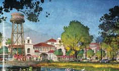 More great concept art for Disney Springs.