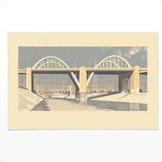 Image of Sixth Street Bridge (giclee print)