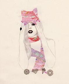 cat mask – fashion illustration – miss mel