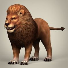 Game Ready Realistic Lion by Gamingarts Here is the game ready realistic model of Lion. Model has perfect edge loop based topology. All materials and textures are inc Cartoon Lion, Lion And Lioness, Games To Buy, Horse Art, 3d Design, Mammals, Anime Characters, Lion Sculpture, Character Design