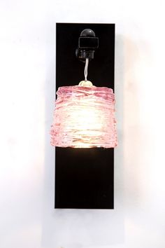 Pretty Noa- Pink Wall Light / #HandMade A happy, unique wall fixture that enables to easily change the look and feel of any space.  When lit, the texture is more dominant, adding an edgy touch. The body is available in different colors and can be easily replaced with a different color from the Pretty Noa series.. . #AyaandJohn create outstanding light fixtures, that are produced by expert designers and artisans. For product information email tamar@ayaandjohn.com