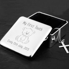 Engraved Square Silver Plated Jewellery Box - My First Tooth Unique Baby Gifts, New Baby Gifts, Gifts For Boys, Personalized Teacher Gifts, Jewellery Box, Jewelry, First Tooth, Boy Or Girl, New Baby Products