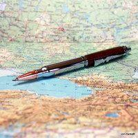 """Luxusní dřevěné pero  \""""Těžký kalibr\"""""""