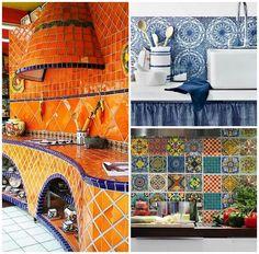 Beautiful Talavera Tile Kitchens - Latin America and Mexico home decor interior design Mexican Kitchen Decor, Mexican Home Decor, Hacienda Kitchen, Mexican Kitchens, Interior Design Kitchen, Interior Decorating, Color Interior, Decorating Kitchen, Latin Decor