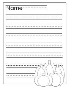 Halloween Writing Paper K-2 2nd Grade Writing, Third Grade Reading, Kindergarten Writing, Writing Activities, Writing Paper, Writing Prompts, Writing Ideas, Halloween Themes, Fall Halloween