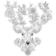 Deer coloring page : Design MS Make your world more colorful with free printable coloring pages from italks. Our free coloring pages for adults and kids.