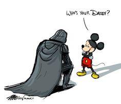 Disney Mickey Mouse Darth Vader and Star Wars