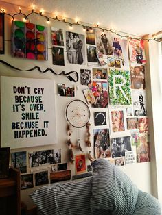 My favorite part of this is the ribbon on the wall. You could do some cursive writing on the wall with ribbon like that; no need to buy ten sets of alphabet wall decals!