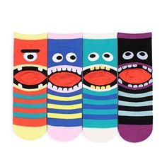 Women's Fashion Casual Funny Crazy Socks Collection Monsters Halloween dress girls teenagers
