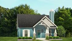 The Aiden House plan - 900 sq ft and has 2 BR and 1 BA.