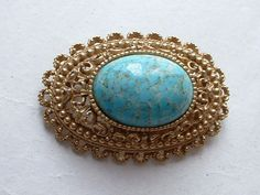 Large brooch with bird eggs stone by WhenIWasALad on Etsy