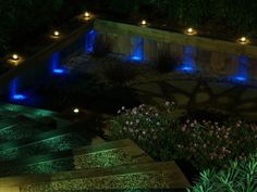 how to decorate a garden with LED lighting ideas? In this article we will show you many ideas for LED garden lights and outdoor garden lighting ideas for romantic garden. Led Garden Lights, Outdoor Garden Lighting, Fence Lighting, Lighting Ideas, Backyard Fences, Outdoor Landscaping, Garden Design London, Outdoor Steps, Outer Space