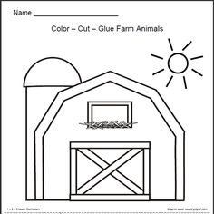 I have added a Farm Animals worksheet to the free downloads at 1 - 2 - 3 Learn Curriculum . You can also download it directly from here.