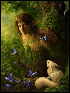 Art faun elves-and-fairies Iron Fey, Magical Creatures, Fantasy Creatures, Forest Creatures, Fairy Land, Fairy Tales, Fantasy World, Fantasy Art, Dragons