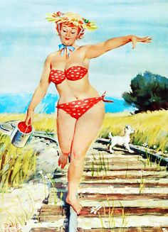 """""""Hilda Pin-up"""" by Duane Bryers c. 1965"""