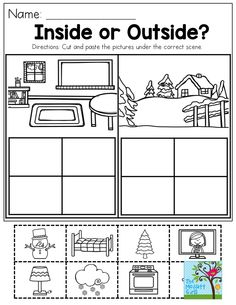Inside or Outside? This activity helps children categorize.  So much FUN!