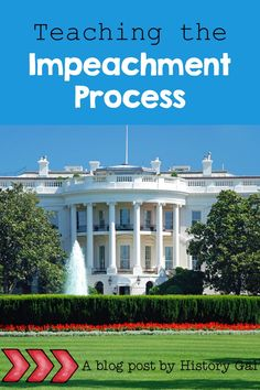 Use History Gal's doodle flow chart to help your middle and high school students understand the impeachment process. Teaching Government, Crimes And Misdemeanors, House Of Representatives, High School Students, Confused, Flow, Doodle, Chart, Mansions