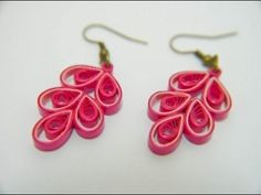 quilling paper earrings Latest design earrings Earrings Making video - YouTube