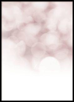 Fin, abstrakt poster i rosa och vitt från Desenio
