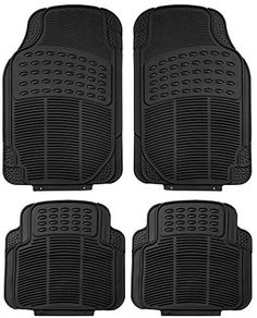 FH Group F11305BLACK Black All Weather Floor Mat, 4 Piece (Full Set Trimmable Heavy Duty) #travel #automobileaccessories #floormat