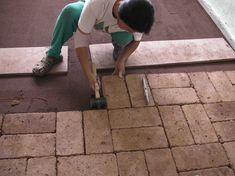 or hundreds of years we have used brick as a building material for walls and floors. One of the most eco-friendly materials to use in a home, brick is affordable, beautiful when sealed, and easy to lay as a do-it-yourself project. Natural Building, Green Building, Building Ideas, Brick Flooring, Flooring Ideas, Floors, Diy Flooring, Earth Bag Homes, Natural Flooring