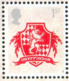 British Stamp 2007 JK Rowling Harry Potter Gryffindor Crest