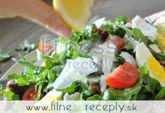 Rukolový šalát s vajcami a žeruchou