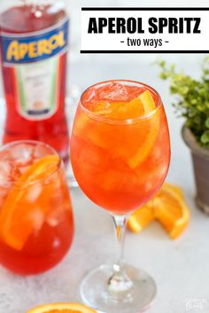 You'll love sipping on this beautiful and refreshing Italian cocktail. Prosecco, Aperol and my secret ingredient make this the tastiest Aperol Spritz EVER! Summer Fridays call for cocktails, and here it is - Aperol Spritz! Italian Cocktails, Prosecco Cocktails, Cocktail Drinks, Fun Drinks, Yummy Drinks, Alcoholic Drinks, Aperol Drinks, Beverages, Cocktail Recipes Aperol