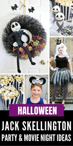 Hosting a Jack Skellington Nightmare Before Christmas movie night or Halloween party? Check out these fun ideas. Nightmare Before Christmas Movie, Christmas Movie Night, Halloween Jack, Halloween Party, Fun Ideas, Party Ideas, Jack Skellington, Cool Costumes, Christmas Themes