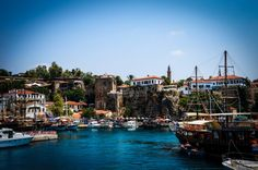 Old Antalya Harbour - Antalya Turkey Famous Landmarks, Antalya, Old Town, Adventure Travel, Old Things, Turkey, Europe, City, Peru