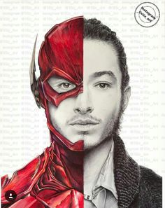 Ezra Miller as the Flash! Drawn by viix_art. Can be found on their instagram page.
